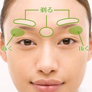 女の濃い眉毛周りの整え方