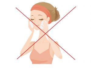 毛穴の黒ずみの原因となる過剰な洗顔