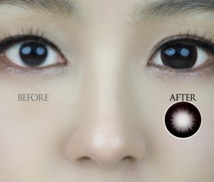 女子の目を大きくするカラコン方法